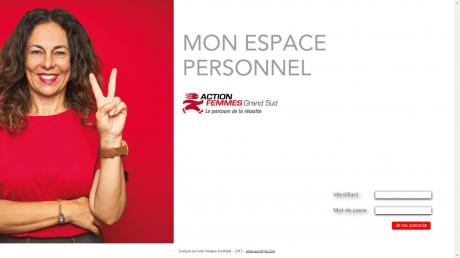 Copie d'écran du portail intranet Action Femmes