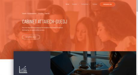 Copie d'écran du site internet du cabinet Attaiech-Guedj