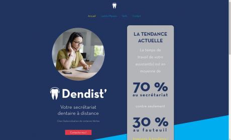 Capture d'écran du site internet de DENDIST'