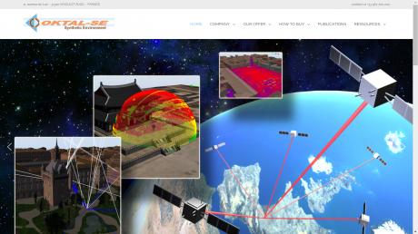 Copie d'écran du site d'OKTAL SE