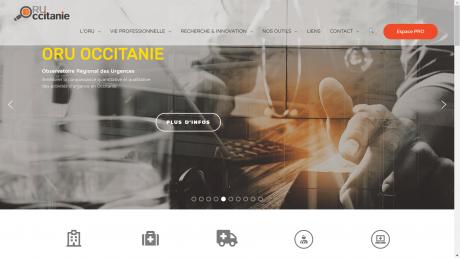 Copie d'écran du site de l'ORU Occitanie