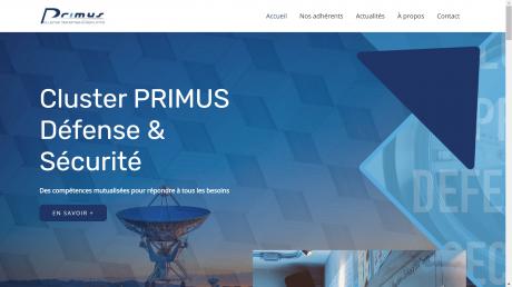 Copie d'écran du site du Cluster Primus Défense & Sécurité