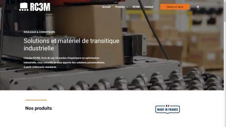 Copie d'écran du site de la société RC3M